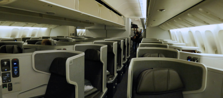 American Airlines B777-300ER Business Class Cabin