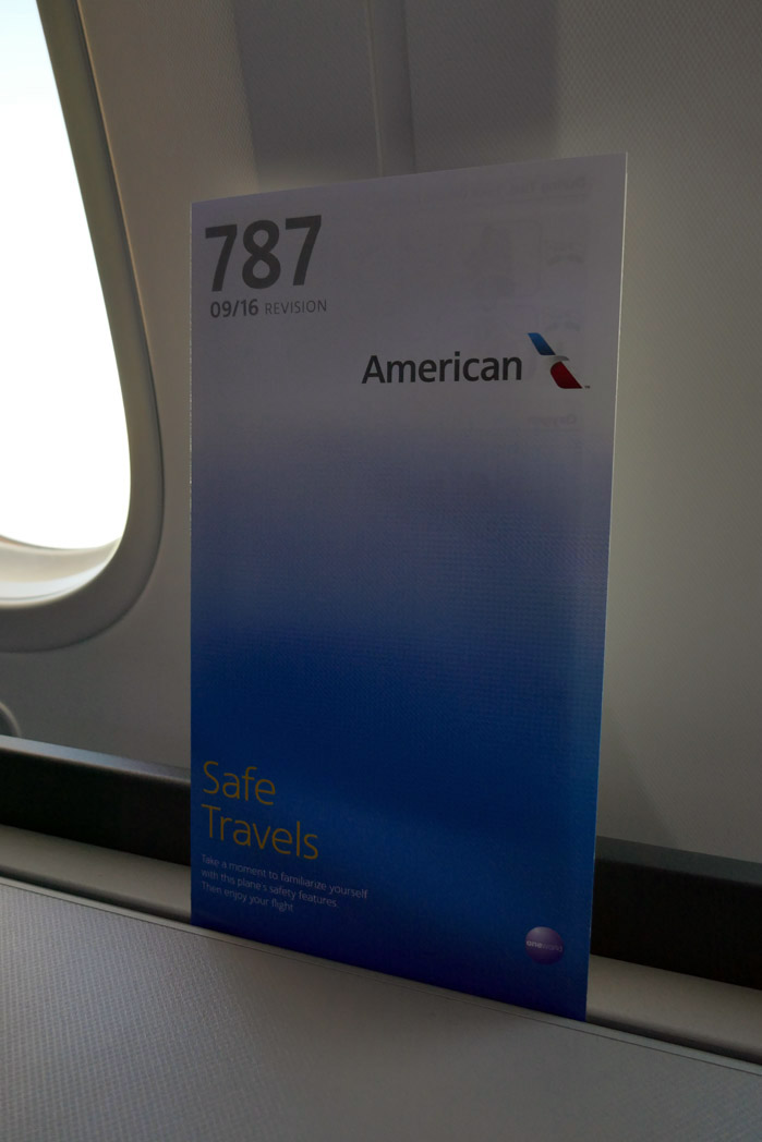 American Airlines Inaugural Domestic B787 9 Flight in