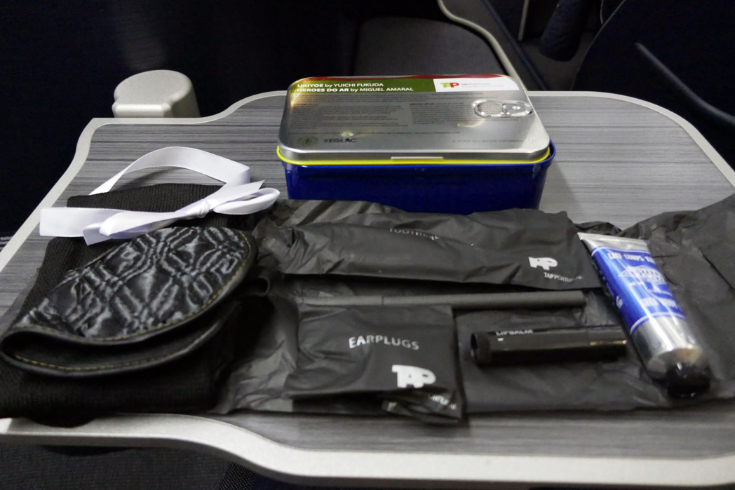TAP Business Class Amenity Kit Contents