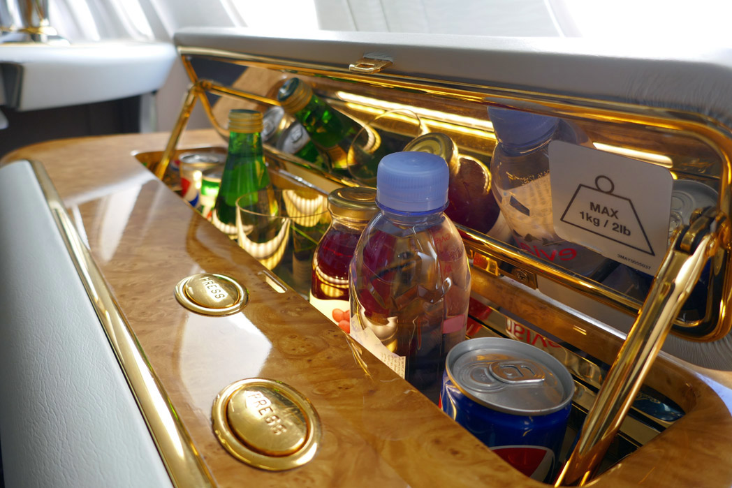 Emirates First Class In-Seat Bar